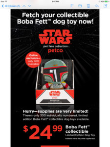 Bobo Fett Dog Toy